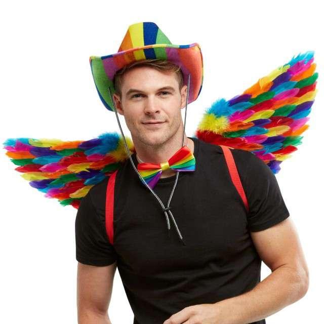 Skrzydła anioła Rainbow tęczowe Smiffys 80 cm