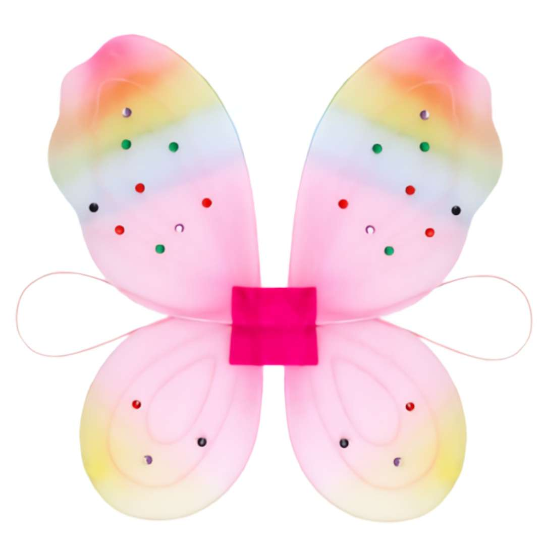 Skrzydła Motylek, różowe, KRASZEK, rozm. 45x28 cm