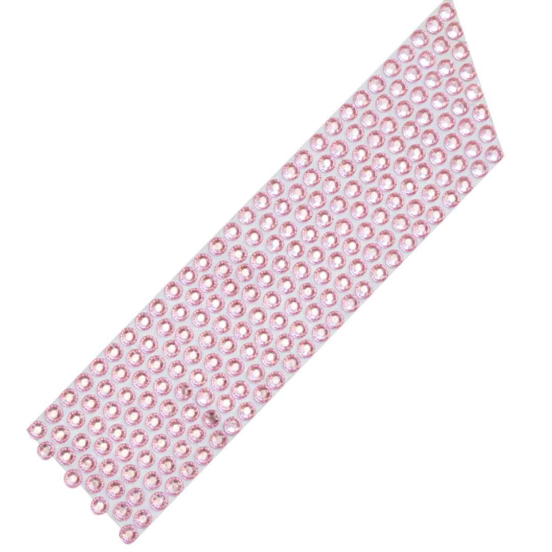 Dekoracja na tort Taśma z cyrkoniami różowa DeKora 10m