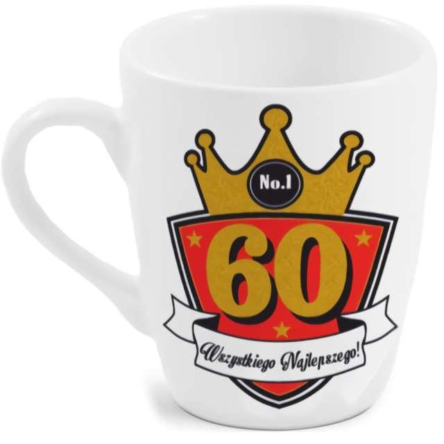"""Kubek z nadrukiem """"60-te urodziny"""", biały, BGtech, 300 ml"""