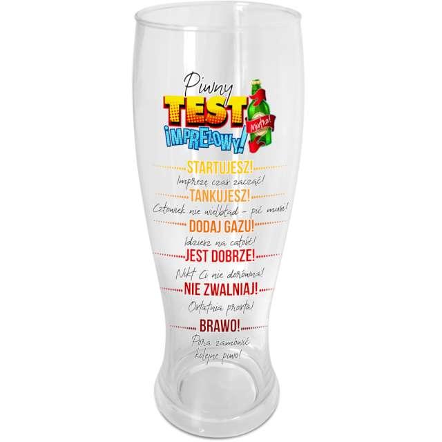 """Szklanka do piwa """"Test piwny"""", z nadrukiem, BGtech, 1500 ml"""