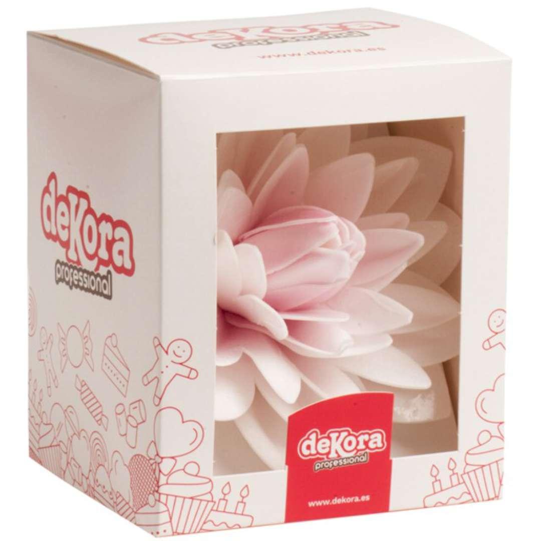 Dekoracja na tort Kwiat - Dalia różowa Dekora 125 cm
