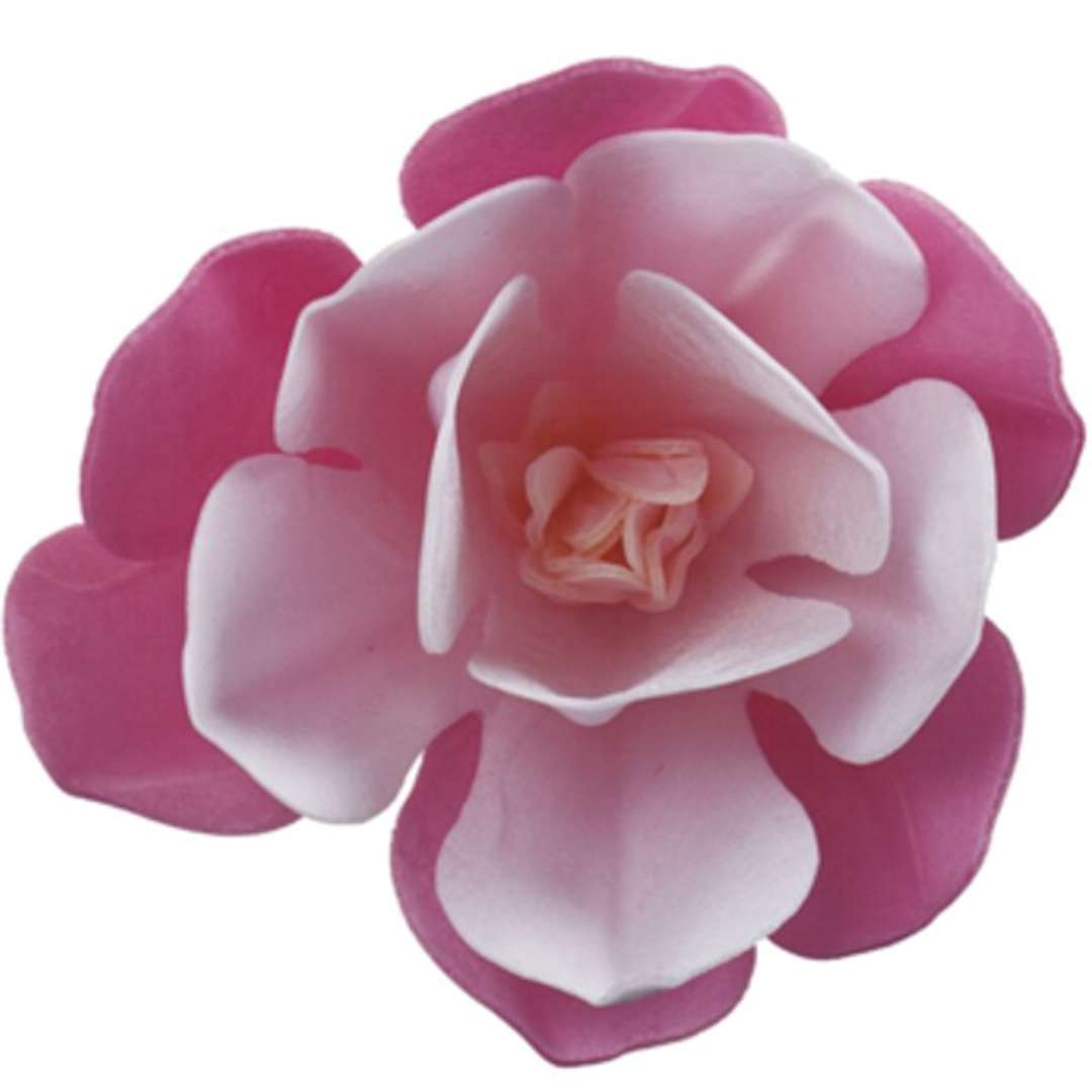 "Dekoracja na tort ""Kwiat - Magnolia"", różowa, Dekora, 6 szt"