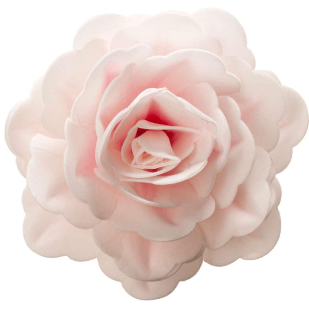 "Dekoracja na tort ""Kwiat - Róża"", różowa, Dekora, 12,5 cm"