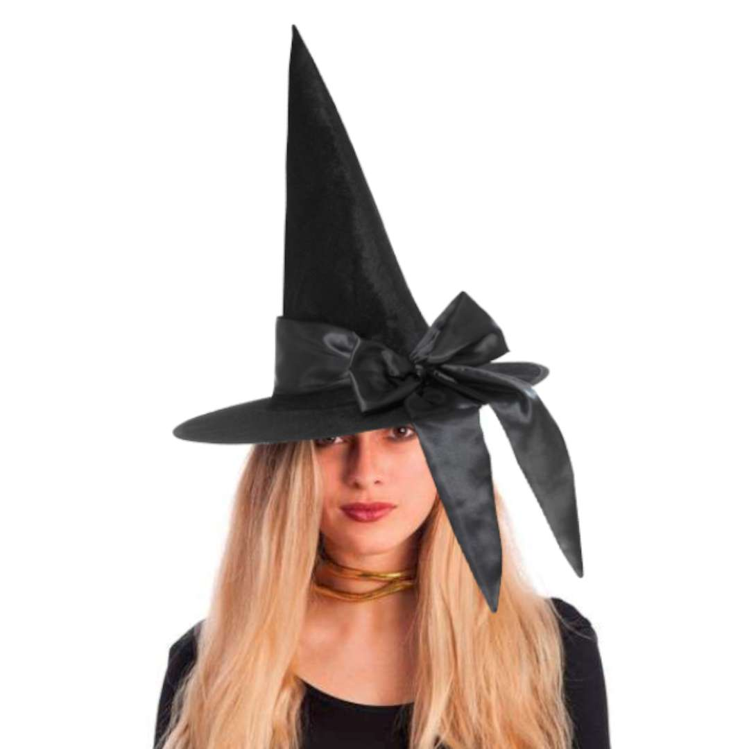 Kapelusz Czarownica z kokardą czarny Smiffys