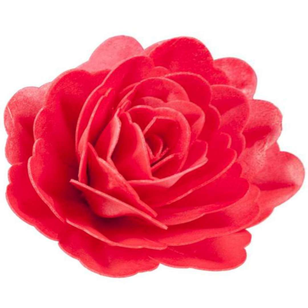 Dekoracja na tort Kwiat - Róża czerwona Dekora 125 cm