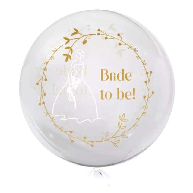 """Balon foliowy """"Bride to be!"""", przeźroczysty, Tuban, 18"""" RND"""