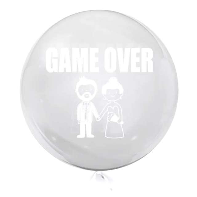 """Balon foliowy """"Game Over"""", przeźroczysty, Tuban, 18"""" RND"""