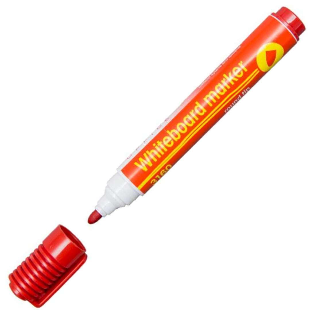 """Marker suchościeralny """"Whiteboard marker"""", czerwony, D.RECT, 1-3 mm"""