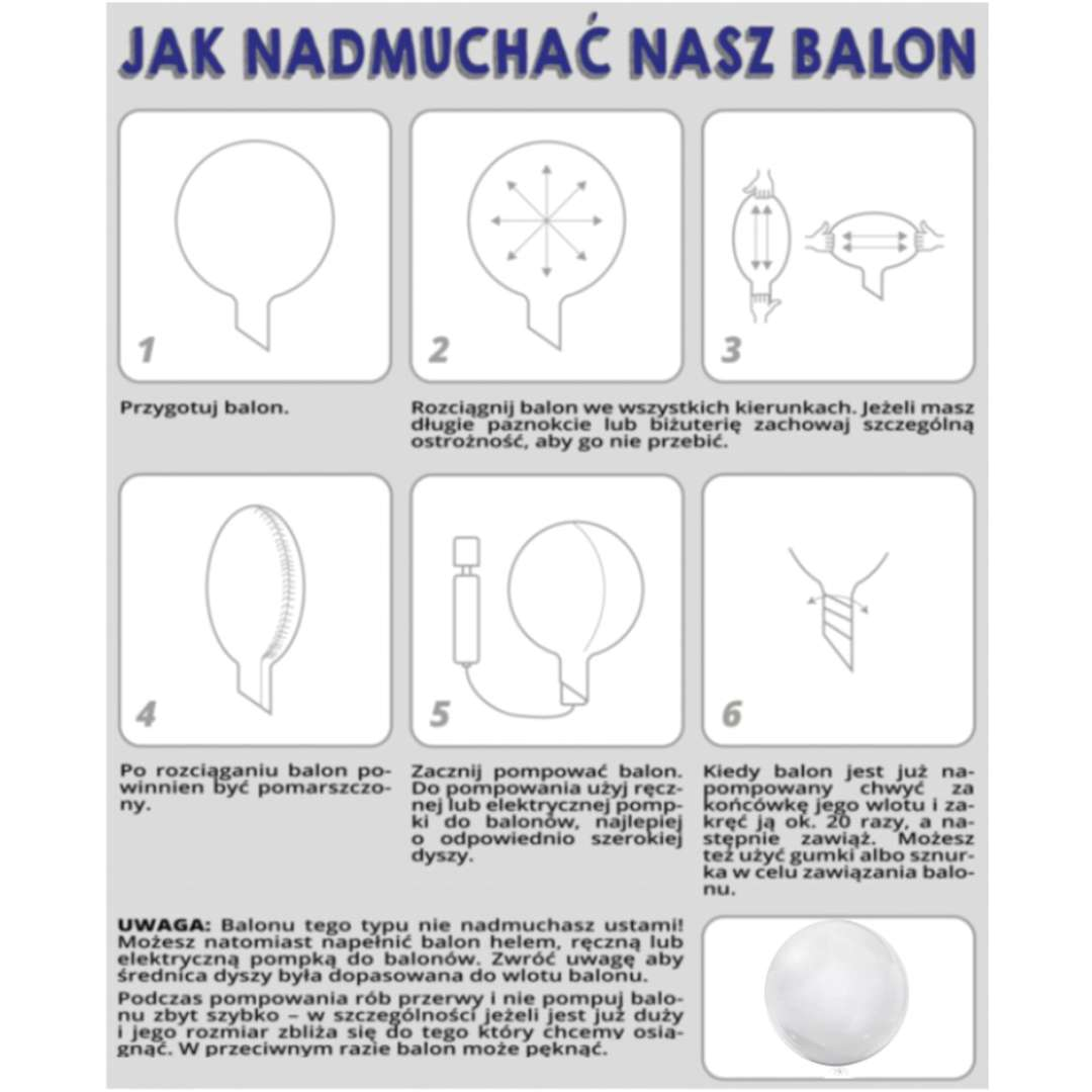 Balon foliowy Cyfra 0 - różowa przeźroczysty Tuban 18 RND