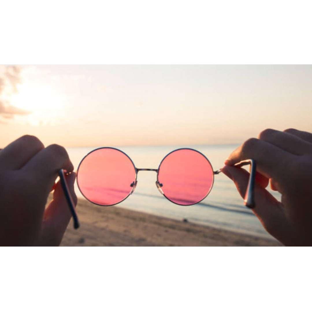 Okulary party Hipis w różowych Smiffys rozm. uniwersalny
