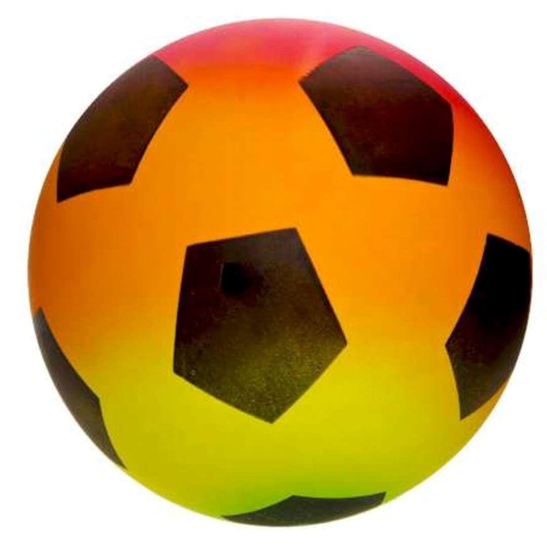 Piłka plażowa Piłka nożna Kemiś kolorowa 23 cm