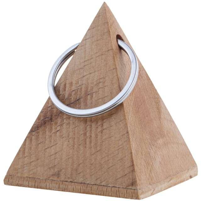 Obciążnik do balonów Drewniana piramida brązowy Funny Fashion 65 g