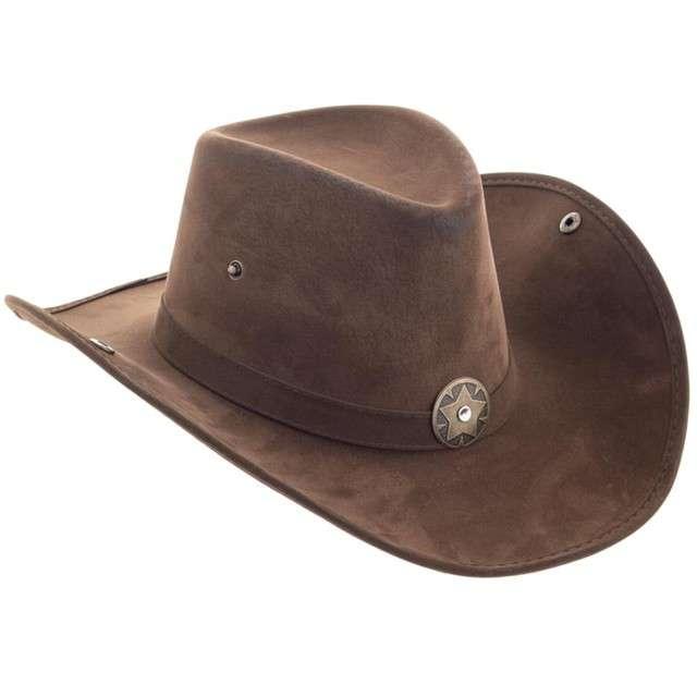 Kapelusz Kowboj - szeryf brązowy Funny Fashion