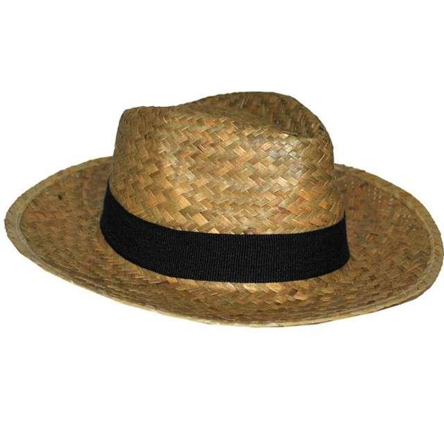 Kapelusz Kowboj słomiany brązowy Funny Fashion
