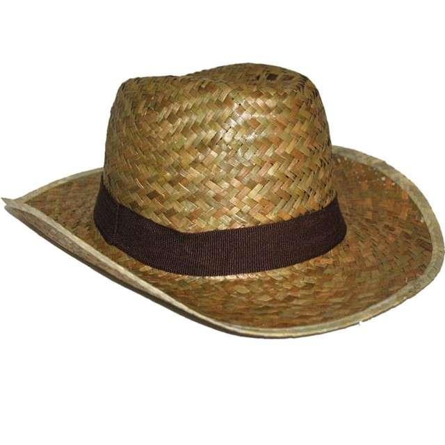 Kapelusz Słomkowy kowboj brązowy Funny Fashion