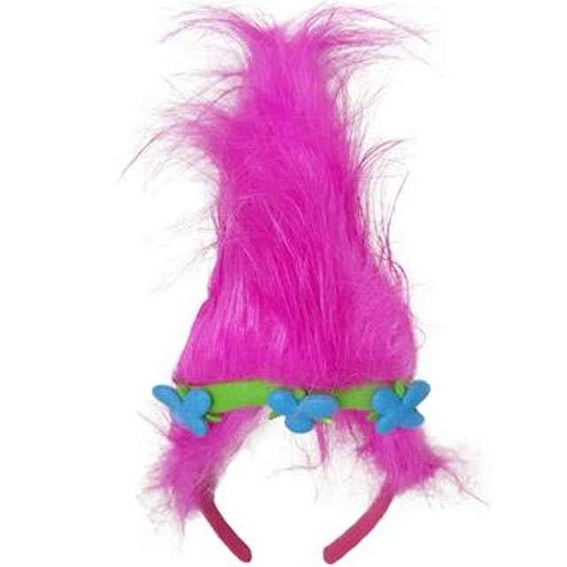 Opaska party Diadem Troll różowa Funny Fashion