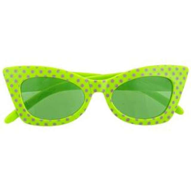 Okulary party Modne groszki zielone Funny Fashion