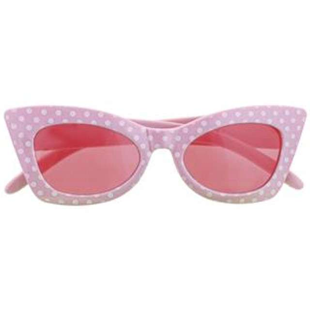 Okulary party Modne groszki różowe Funny Fashion