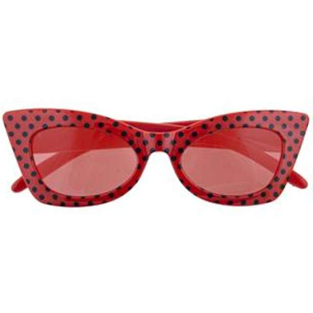 Okulary party Modne groszki czerwone Funny Fashion