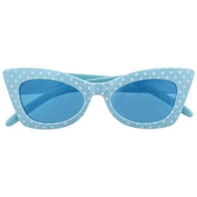 Okulary party Modne groszki niebieskie Funny Fashion