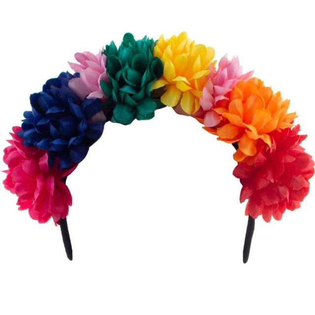 """Opaska party """"Hawajskie kwiaty"""", kolorowa, Funny Fashion"""