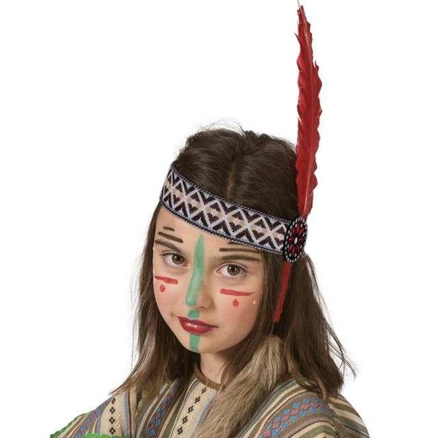 "Opaska party ""Pióro - aztecki wzór"", kolorowa, Funny Fashion"