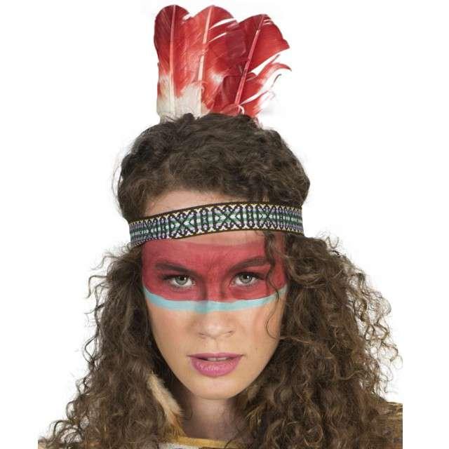 """Opaska party """"Pióra - aztecki wzór"""", kolorowa, Funny Fashion"""