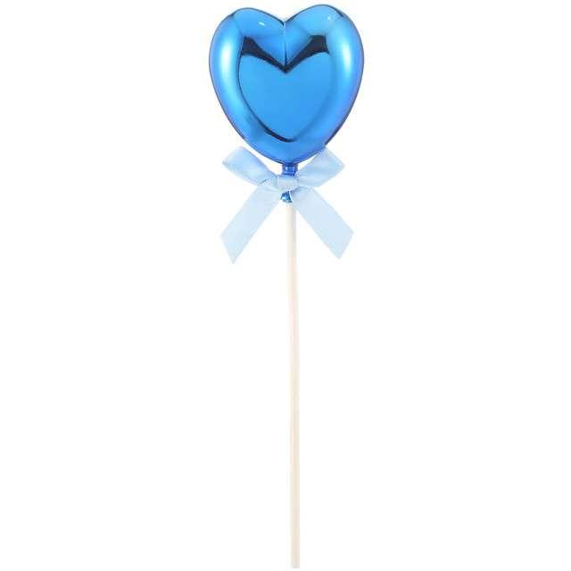 Piker Błękitne serduszko niebieski Funny Fashion 21 cm