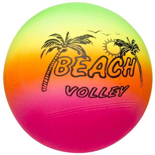 """Piłka plażowa """"Fluoro Beach"""", Kemiś, kolorowa, 15 cm"""