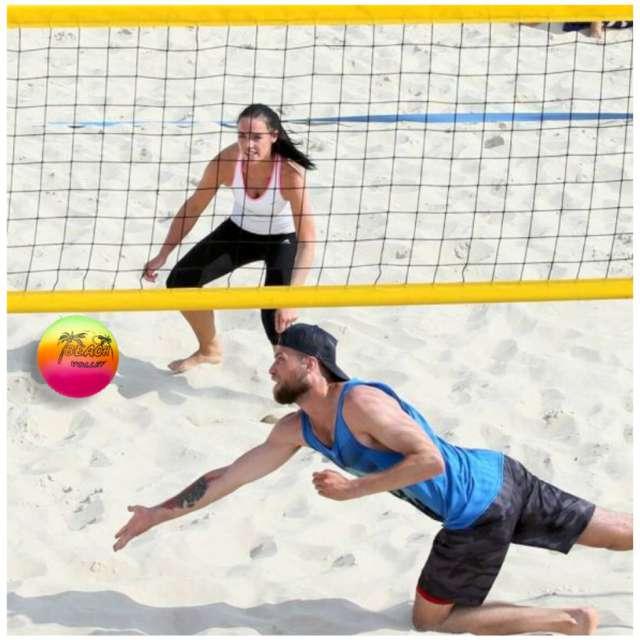 Piłka plażowa Fluoro Beach Kemiś kolorowa 15 cm