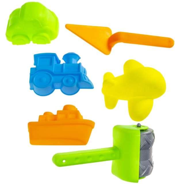 """Zabawki plażowe """"Foremki do piasku - Kolorowe Pojazdy"""", mix, Kemiś, 6 szt"""
