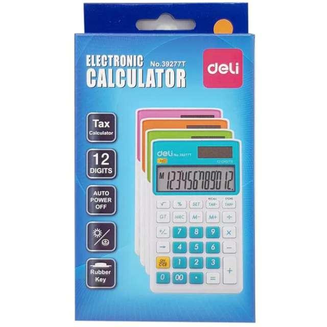 Kalkulator Kieszonkowy biało-zielony DELI 39277T