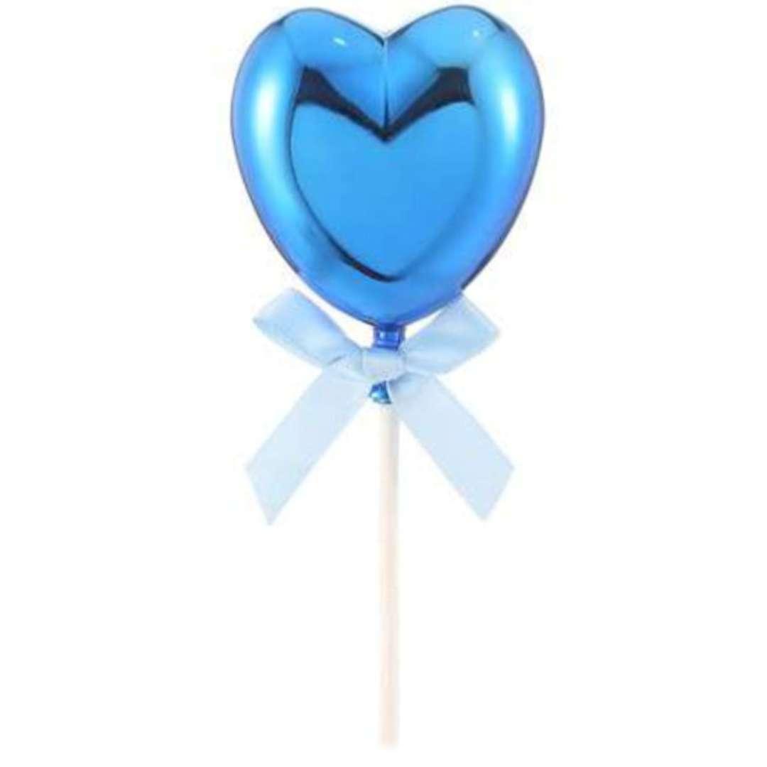 """Piker """"Błękitne serduszko"""", niebieski, Funny Fashion, 21 cm"""