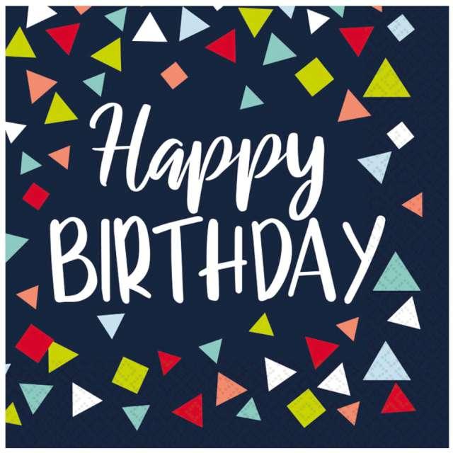 Serwetki Happy Birthday Amscan 33 cm 16 szt
