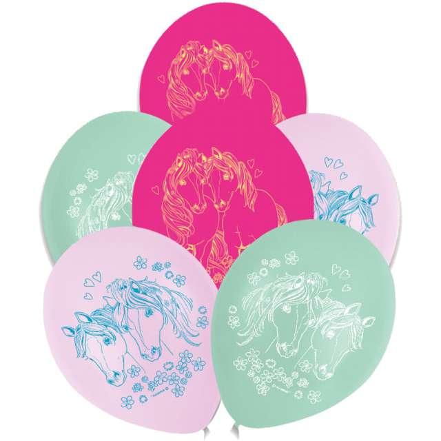 """Balony """"Pretty Pony"""", pastel mix, AMSCAN, 9"""", 6 szt"""