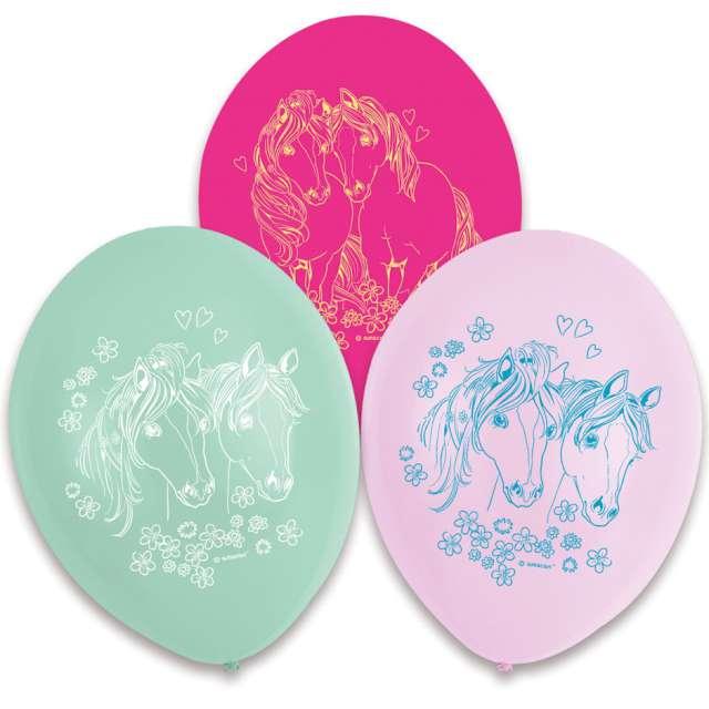 Balony Pretty Pony pastel mix AMSCAN 9 6 szt