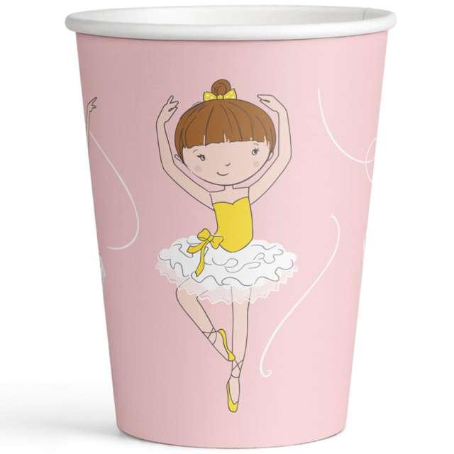 Kubeczki papierowe Baletnica różowy Amscan 250 ml 8 szt