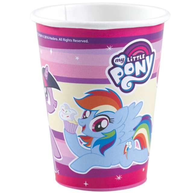 Kubeczki papierowe My little pony kolorowe Amscan 250 ml