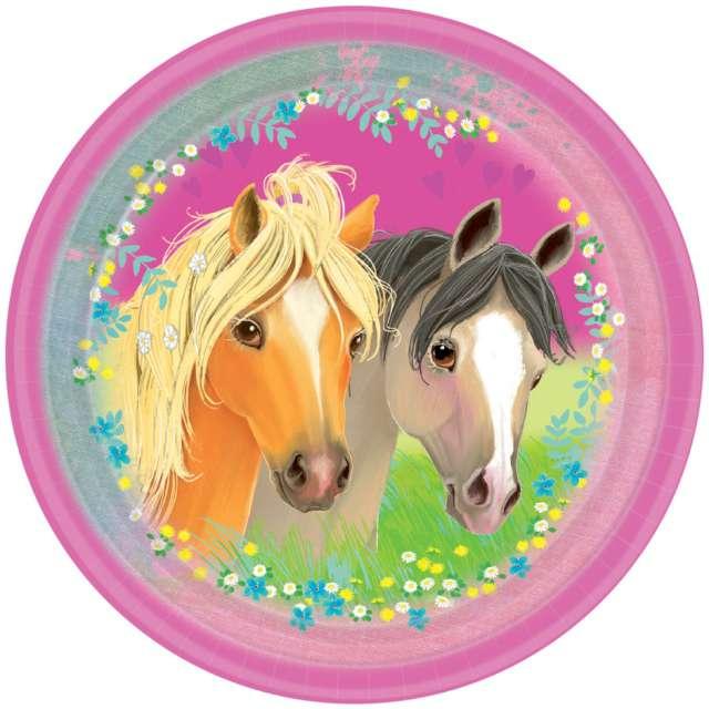 Talerzyki papierowe Pretty Pony mix AMSCAN 23 cm 8 szt