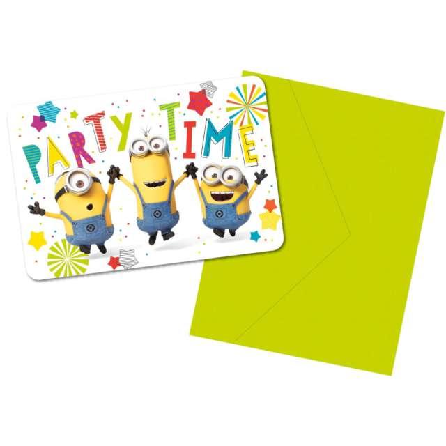 Zaproszenia urodzinowe Minionki Amscan 8 szt