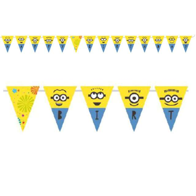 Baner flagi Minionki - Happy Birthday AMSCAN 330 cm