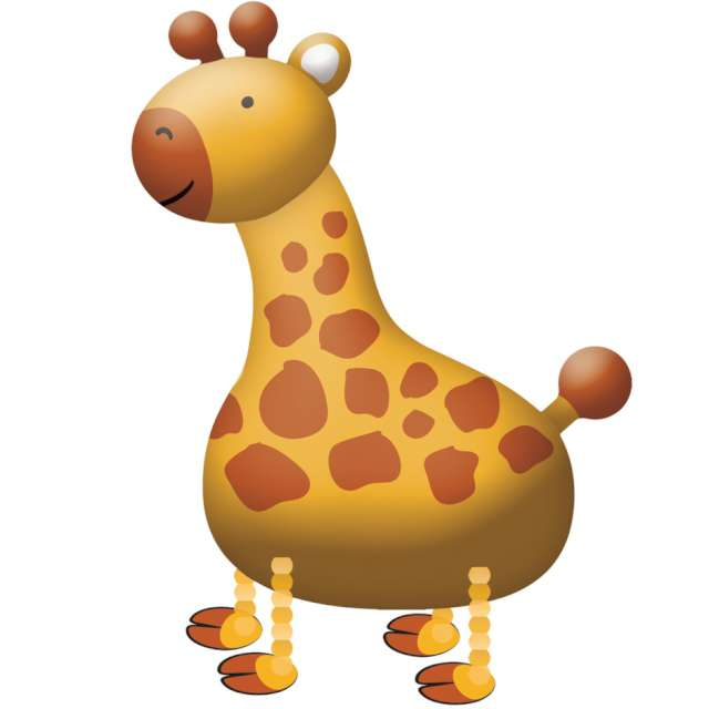 "Balon foliowy ""Chodząca żyrafa"", AMSCAN, 43"" SHP"