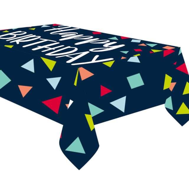 Obrus papierowy Happy Birthday AMSCAN 180 x 120 cm