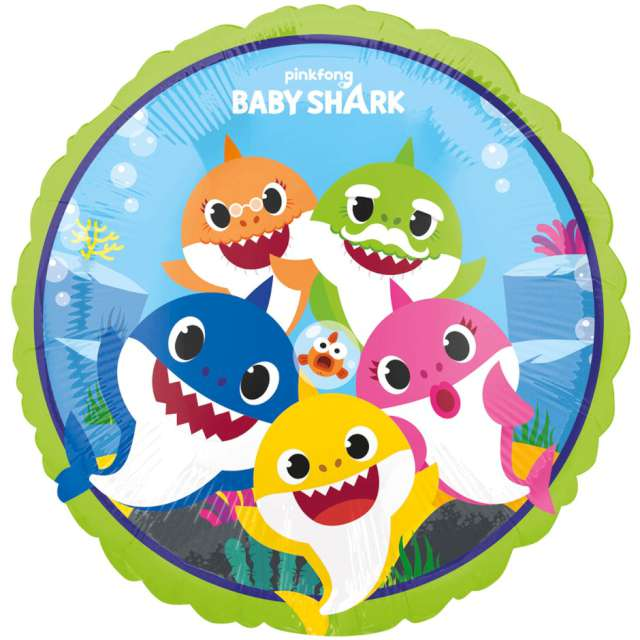 Balon foliowy Baby Shark Amscan 18 RND