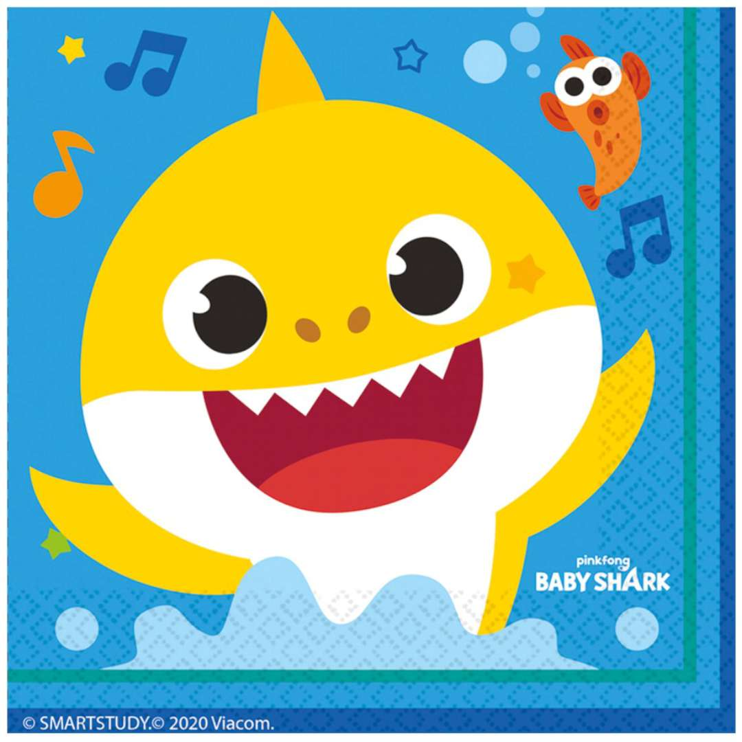 Serwetki Baby Shark Amscan 33 cm 16 szt
