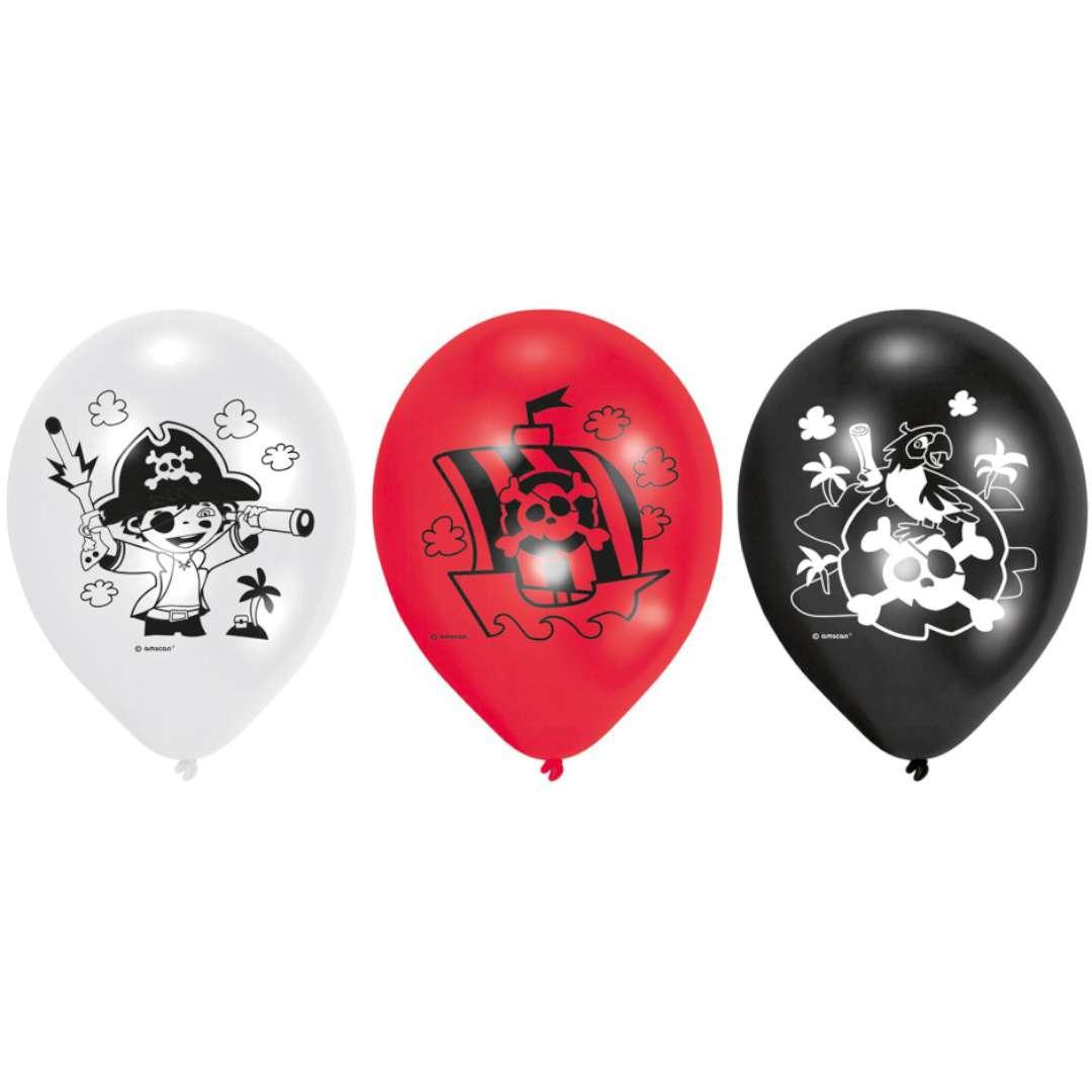 Balony Piraci pastel mix AMSCAN 9 6 szt