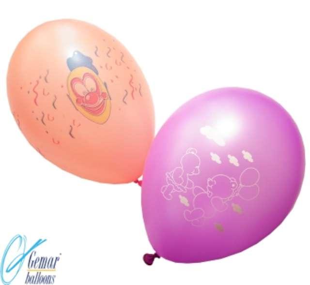 _xx_Balony GFD90 fluor 10cali z nadrukiem - różnokolorowe / 100 szt.
