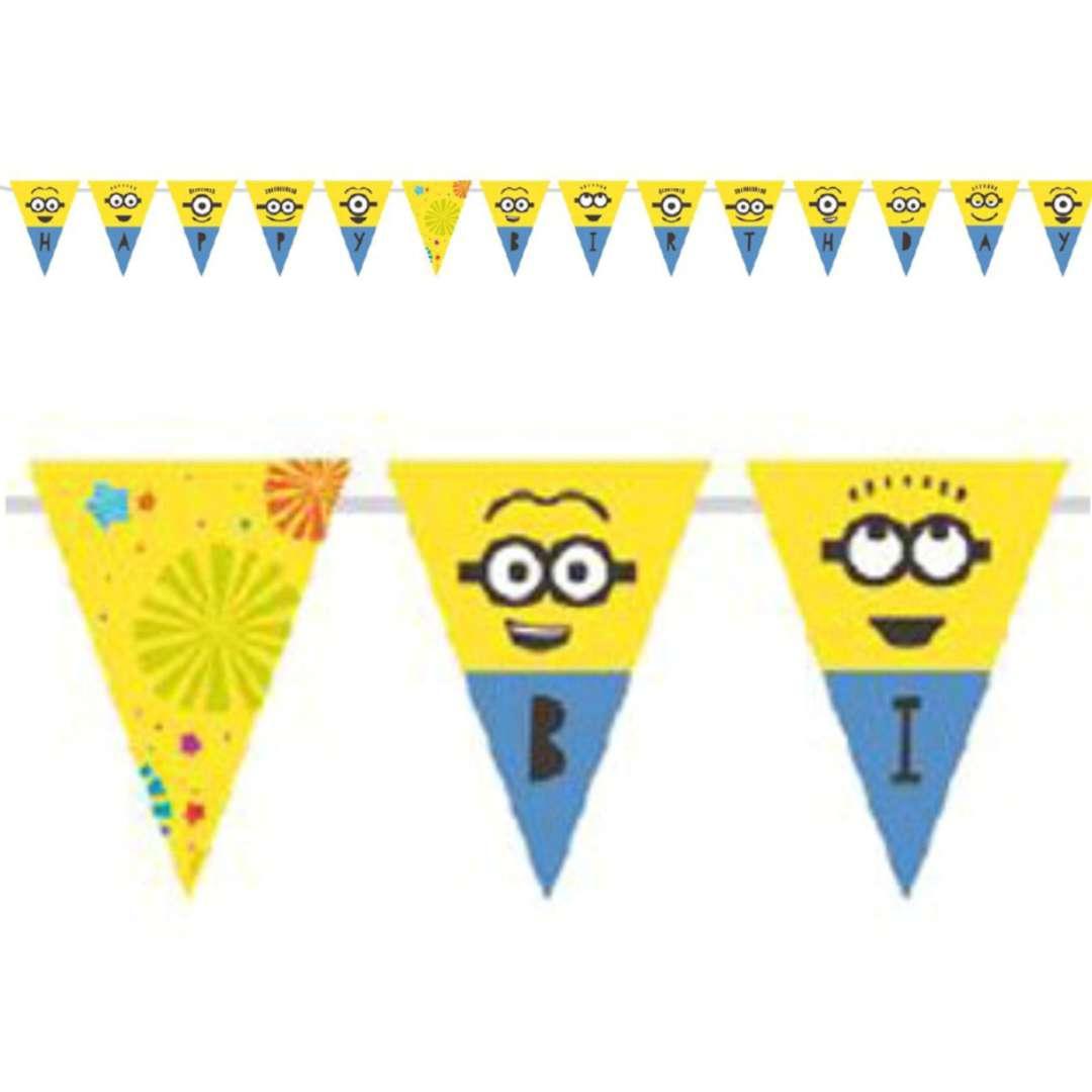 "Baner flagi ""Minionki - Happy Birthday"", AMSCAN, 330 cm"