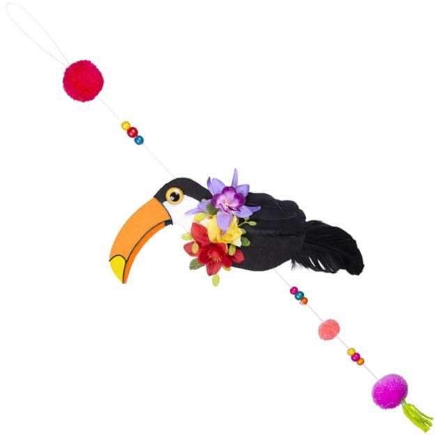 Dekoracja wisząca Tukan kolorowa Godan 70 cm